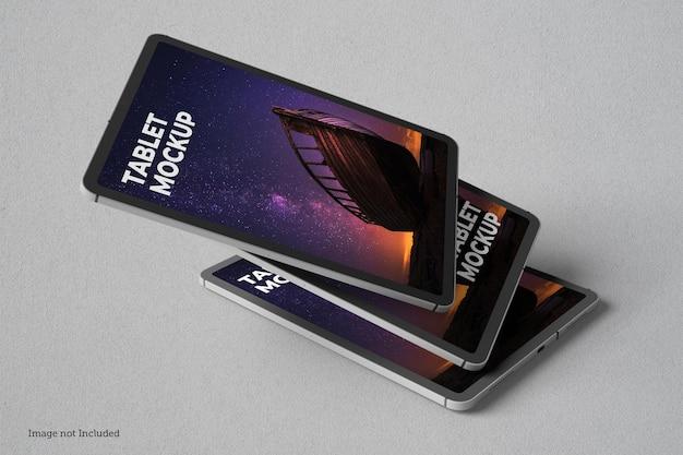Conceptions De Maquette De Tablette En Rendu 3d En Rendu 3d PSD Premium