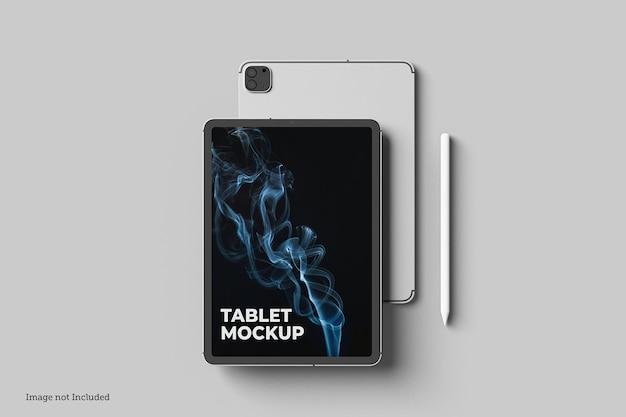 Conceptions de maquette de tablette en rendu 3d en rendu 3d