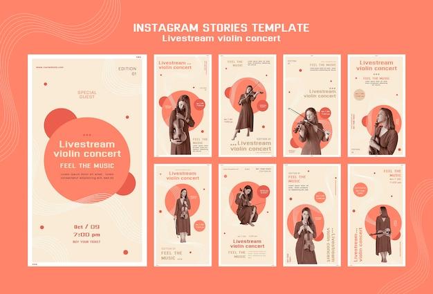 Concert de violon en direct sur instagram stories
