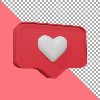 Concevoir l'icône de rendu 3d love cute clipping path