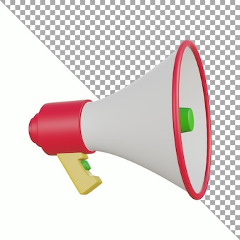 Concevoir un tracé de détourage de mégaphone de rendu 3d