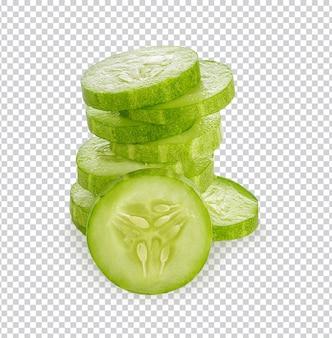 Concombre frais isolé psd premium