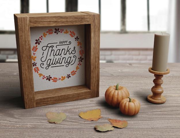 Configuration décorative pour le jour de thanksgiving
