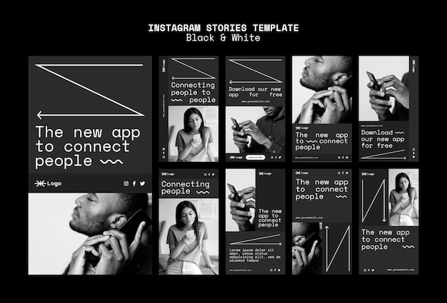 Connecter les gens app histoires de médias sociaux