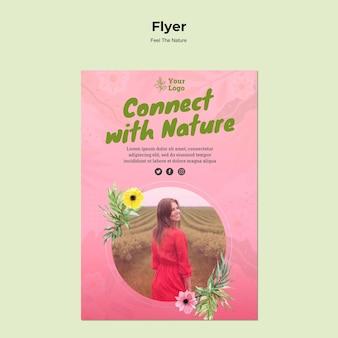 Connectez-vous avec le modèle de flyer nature