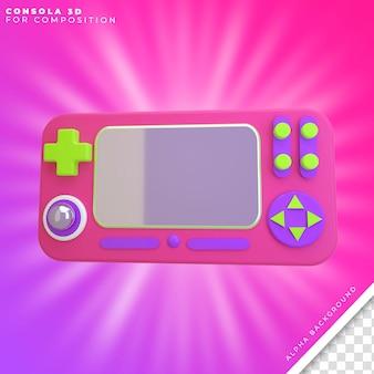 Console 3d pour la composition