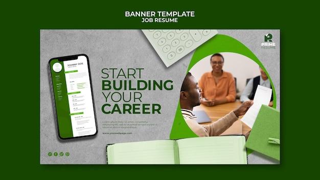 Construire votre modèle de bannière de carrière