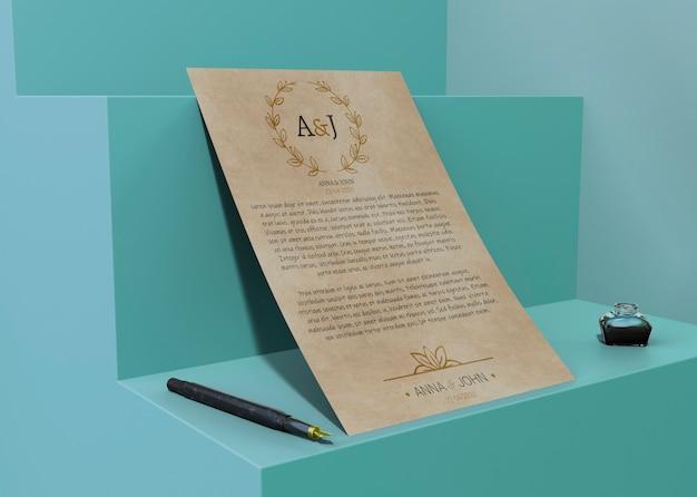 Contrat de maquette papier pour des événements spéciaux