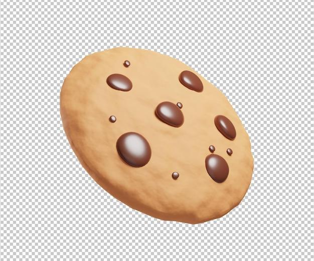 Cookie 3d illustration design rendu isolé