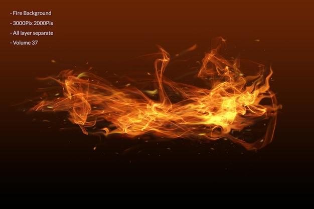 Couche effet flammes de feu