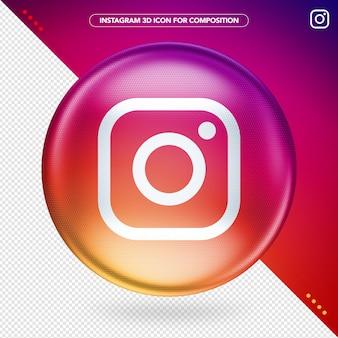 Couleur instagram ellipse 3d