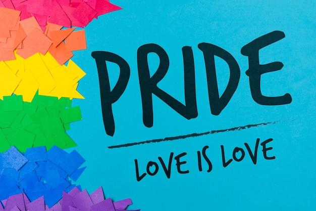 Couper les papiers maquette gay pride