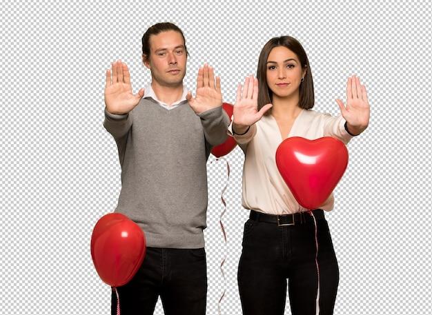 Couple, saint valentin, arrêt, geste, déçu, opinion