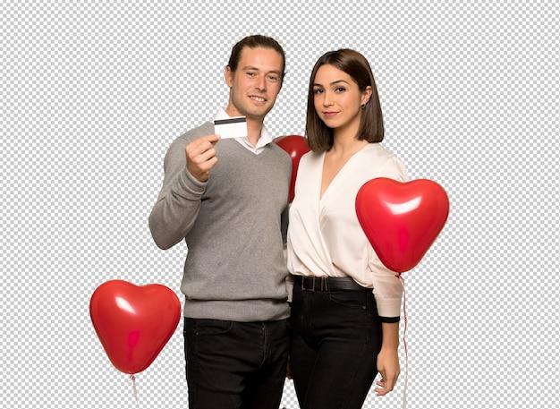 Couple en saint valentin faisant un selfie