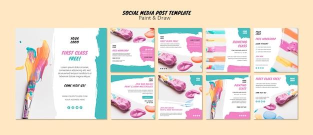 Cours de peinture sur les médias sociaux