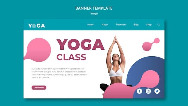 Cours de yoga design bannière