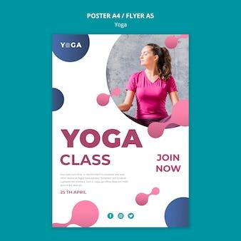 Cours de yoga de style affiche