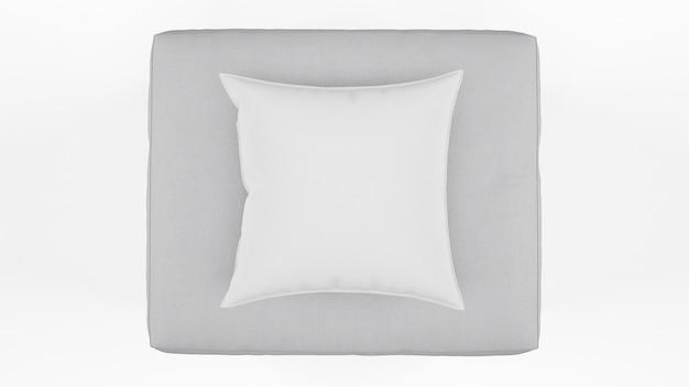 Coussin de couleur grise isolé isolé