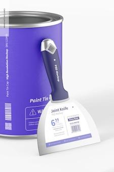 Couteau à joint avec maquette de pot de peinture