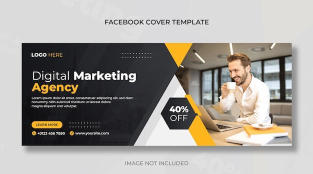 Couverture facebook d'agence de marketing numérique et d'entreprise ou modèle de conception de bannière web