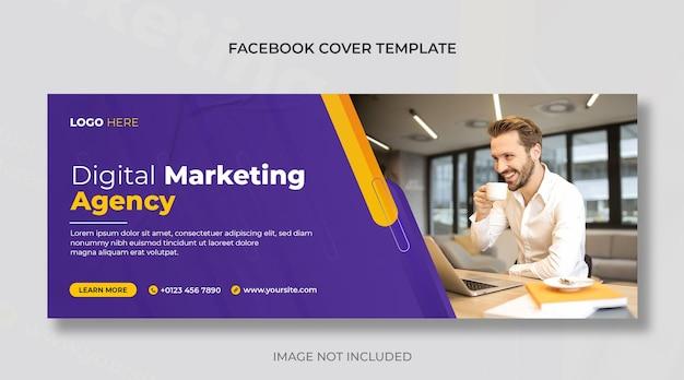 Couverture facebook de l'agence de marketing numérique ou modèle de bannière web d'entreprise