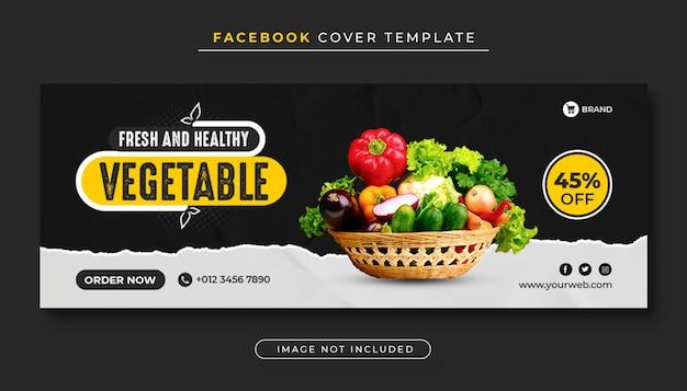 Couverture facebook de légumes alimentaires sains