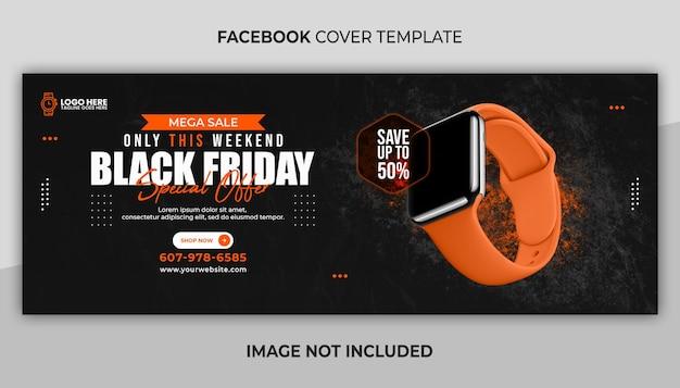 Couverture facebook et modèle de bannière web à vendre et vendredi noir
