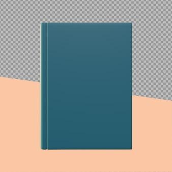 Couverture livre conception rendu isolé
