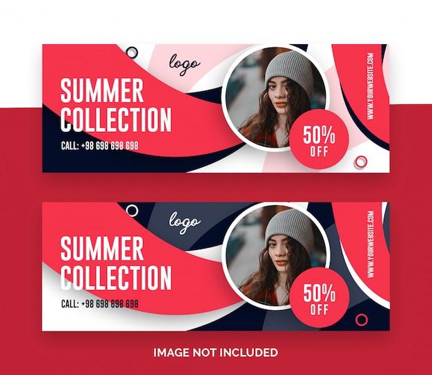 Couverture de vente de mode facebook
