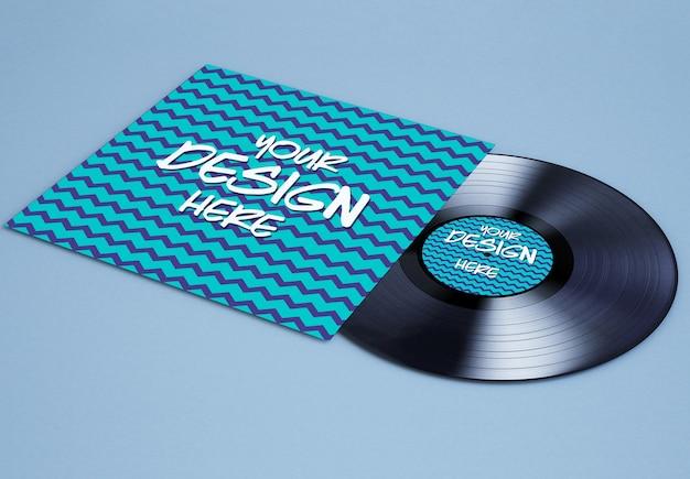 Couverture en vinyle et maquette d'étiquette