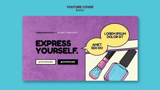 Couverture youtube beauté pop art