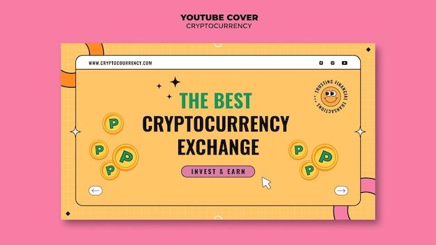 Couverture youtube d'échange de crypto-monnaie