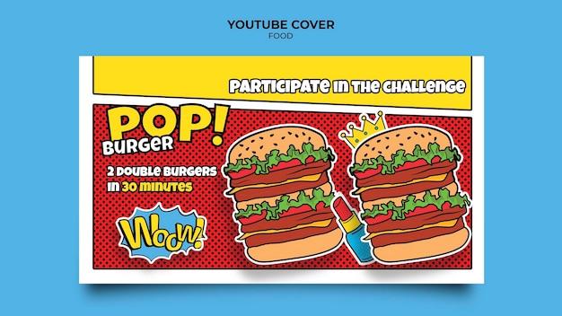 Couverture youtube de la nourriture pop art
