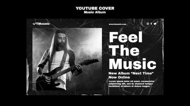 Couverture youtube d'un nouvel album de musique