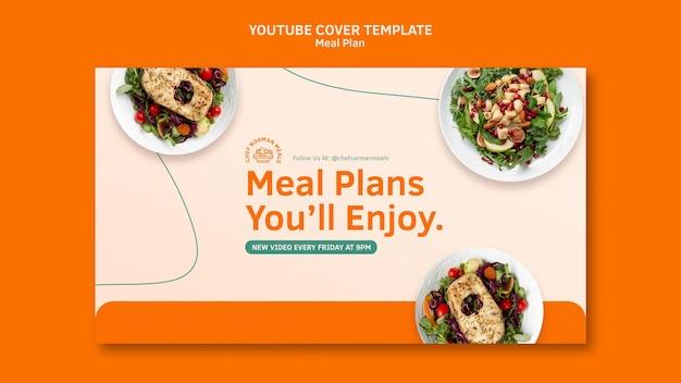 Couverture youtube des plans de repas