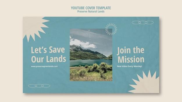 Couverture youtube pour la préservation de la nature avec paysage