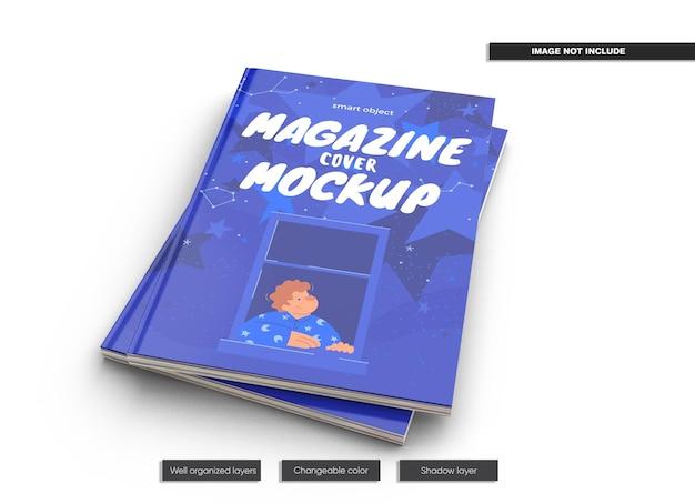Couvre la conception de magazine maquette isolée