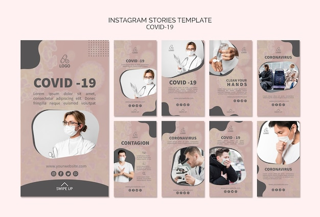 Covid-19 et masquer des histoires instagram