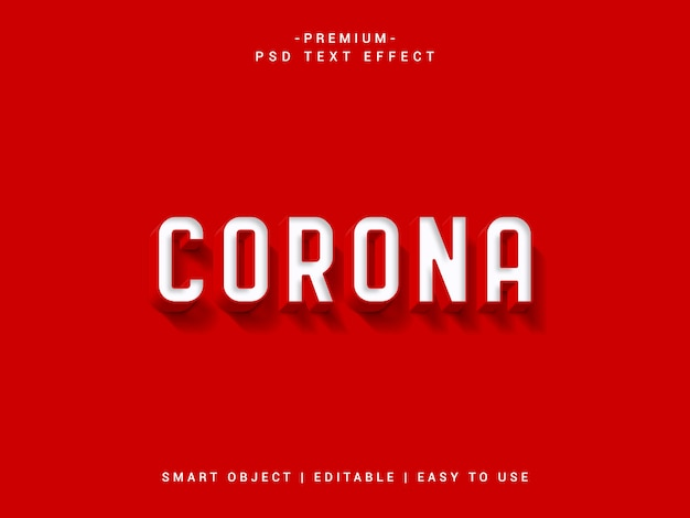 Covid 19 premium psd text effect