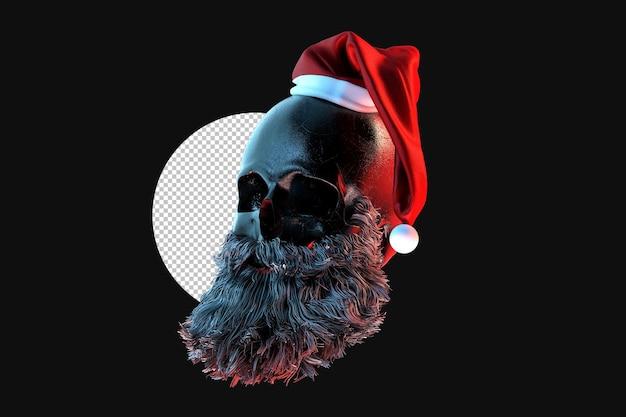Le crâne du père noël. rendu 3d