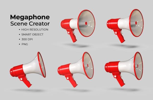Créateur de scène mégaphone