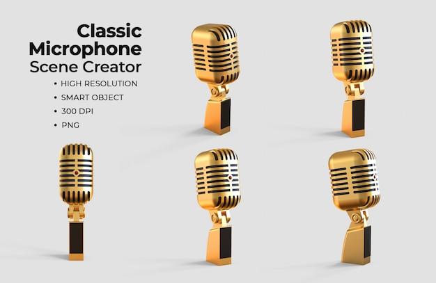 Créateur de scène de microphone classique