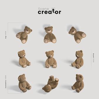 Créateur de scène d'ours en peluche