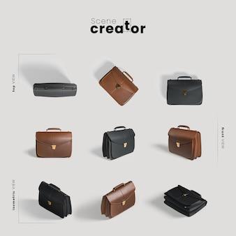 Créateur de scène de sac en cuir