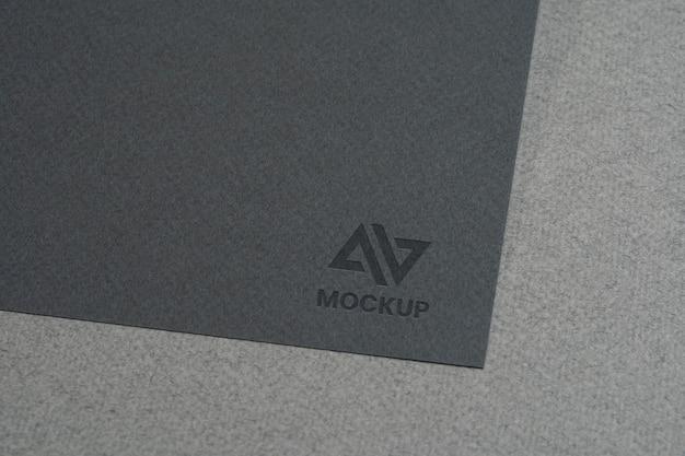 Création de logo maquette sur cartes de visite