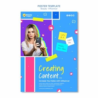 Création d'un modèle d'affiche de contenu