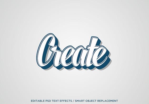 Créer un effet de texte 2d