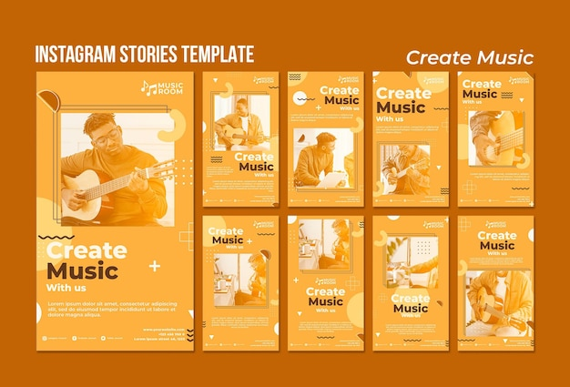 Créer des histoires de musique instagram