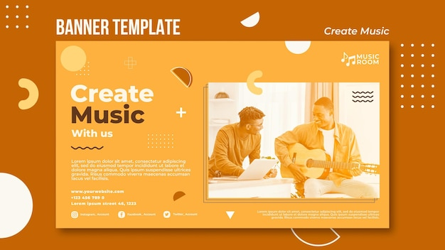 Créer un modèle de bannière de musique