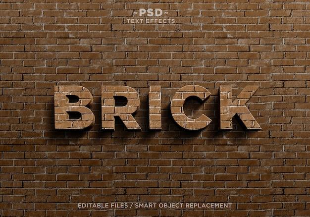 Créer un modèle de texte d'effets de brique